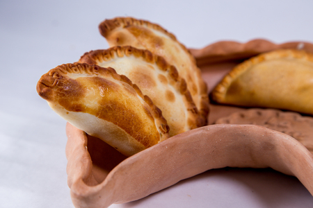Empanadas in a pot Stock Photo - 105254969