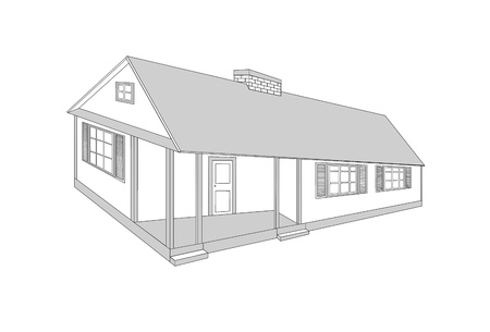 Country house - vector illustration  Vector