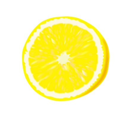 Ripe lemon - vector illustration   Vector