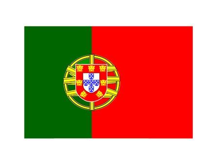 Portugal flag - vector image   Illustration