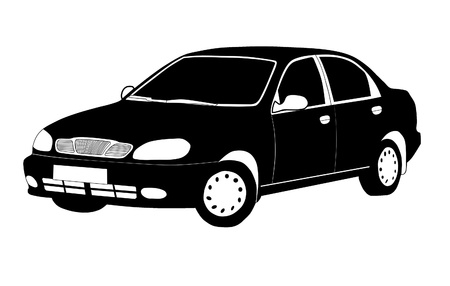 Cartoon silhouette of a car - vector illustration   Stock Vector - 21464404