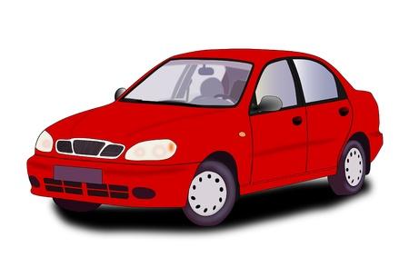 Red car - vector illustration Stock Vector - 21464421