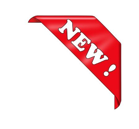 Red new corner ribbon - vector illustration   Stock Vector - 21464422