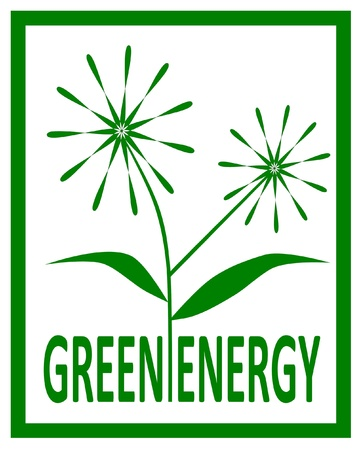 Green energy design - vector illustration   Stock Vector - 21464449