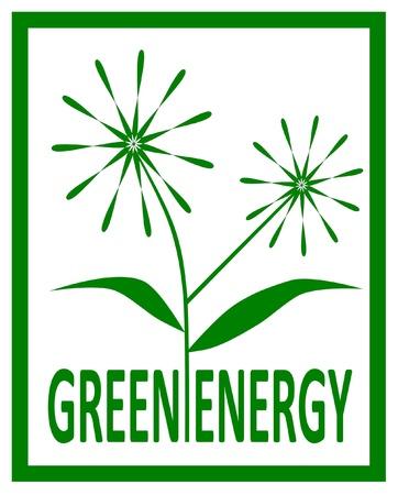Green energy design - vector illustration