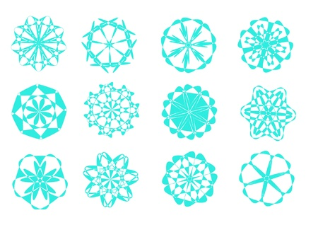 glace: Abstract snowflakes