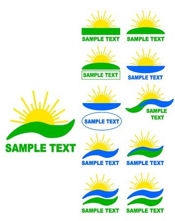 Sun vector logos   Stock Vector - 21974827