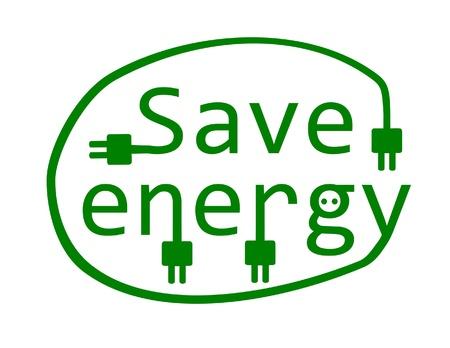eco slogan: Ahorre energ�a - ilustraci�n vectorial Vectores