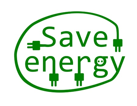 eco slogan: Save energy - vector illustration