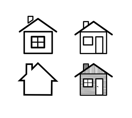 Different vector home icons