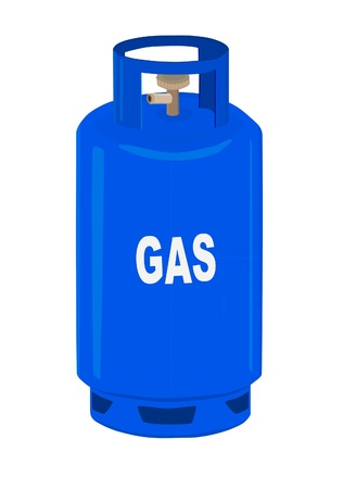 lpg: Propane gas cylinder Illustration