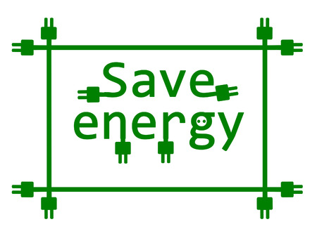 slot in: Save energy - vector illustration