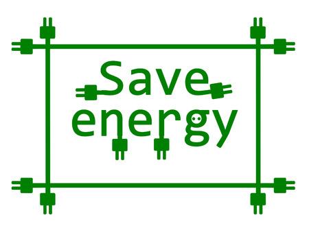 Save energy - vector illustration Stock Vector - 22510106