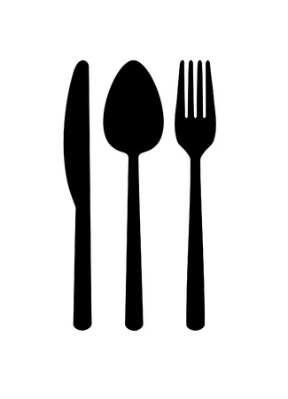 Cutlery - knife, spoon, fork   Vector