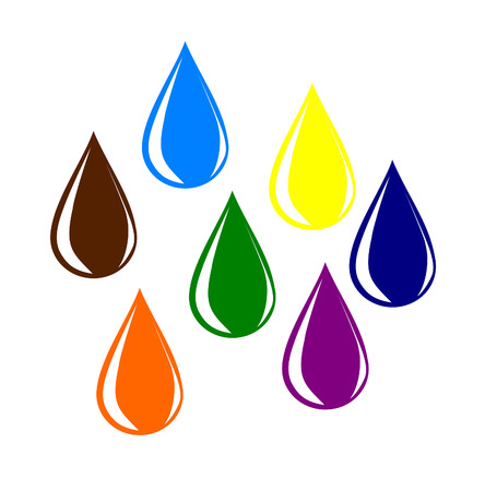Colourful water drops  Stock Vector - 22510118