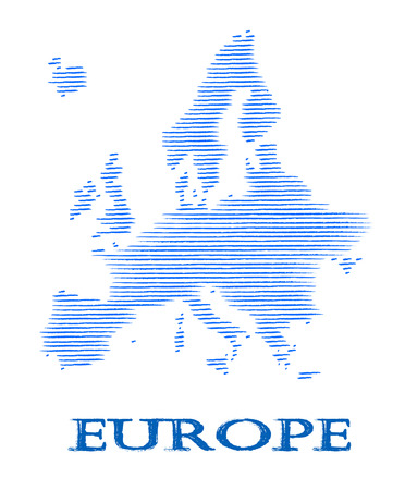 Abstract Europe silhouette - vector illustration