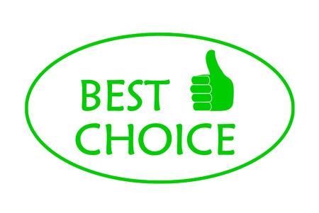 Green best choice   Vector