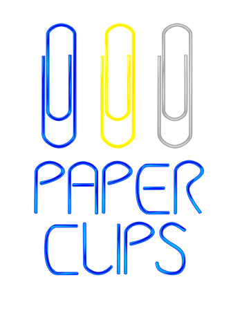 Vector paper clips with notice  Vector