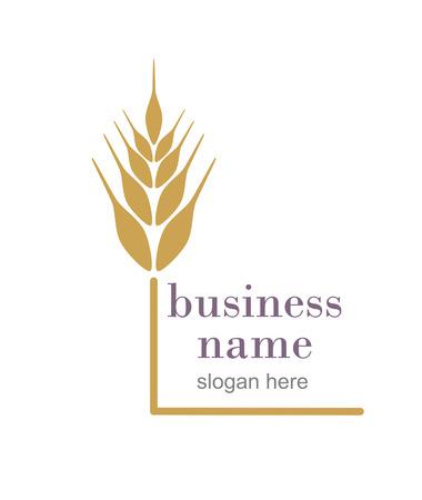rigorous: Logo con spiga di grano Vettoriali