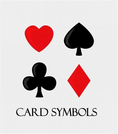 Vector card symbols   Illustration
