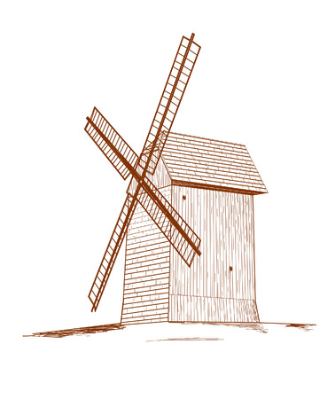Old rural windmill Stock Vector - 23330454