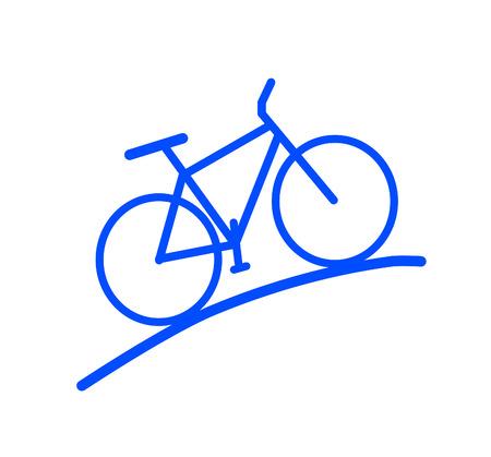 Blue bike - silhouette