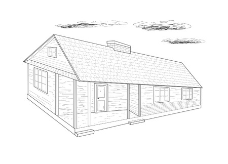 House - vector illustration  Vector