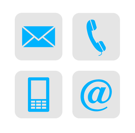 Web contact iconen Stock Illustratie