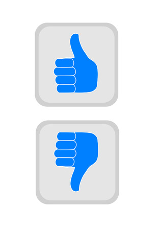 Thumbs up and down icons  Vector