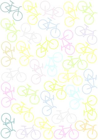 Background with bikes  Illustration