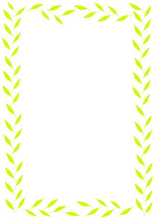 leaves frame: Verde deja el marco