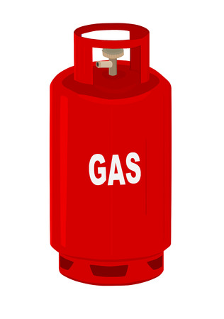 gas barbecue: Propane gas cylinder