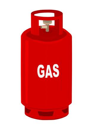 propane gas: Propane gas cylinder
