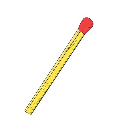 box of matches: Match - vector illustration  Illustration