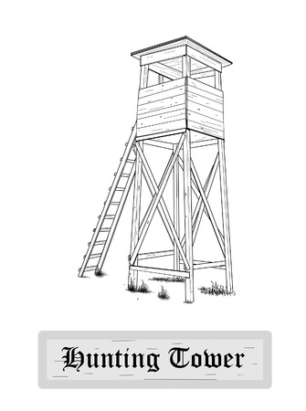 Hunting tower - vector illustration