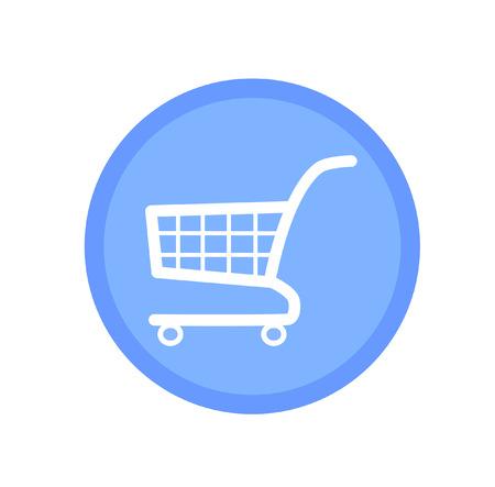 icon shopping cart: Blau Warenkorb-Symbol