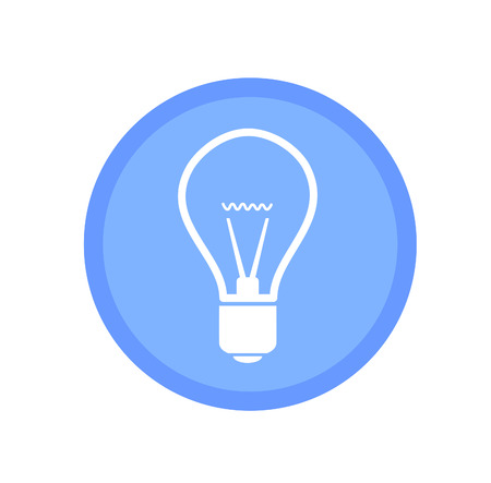 bulb icon: Blue bulb icon Illustration