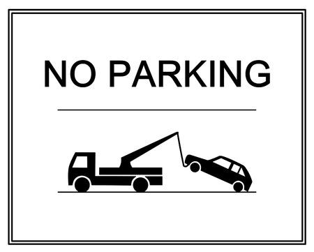 no parking: Traffic sign - no parking