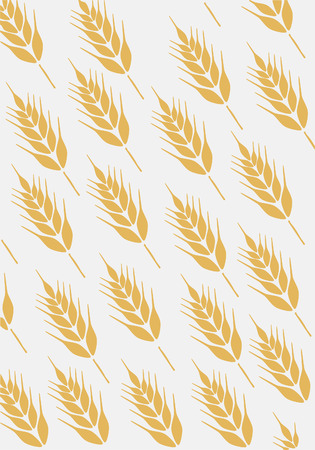 bake sale sign: Background with ear of wheat  Illustration