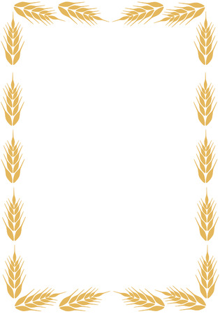 bake sale sign: Frame with ear of wheat  Illustration