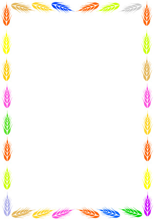 bake sale sign:  Colorful frame with ear of wheat