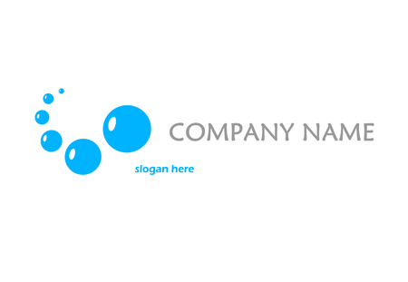 Blue logo with bubbles Vector