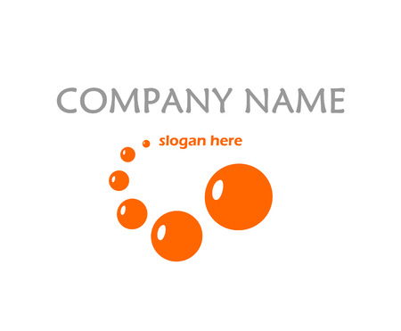 Orange logo with bubbles Vector