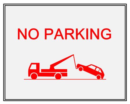 Traffic sign - no parking Vector