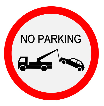 parking is prohibited: Traffic sign - no parking Illustration