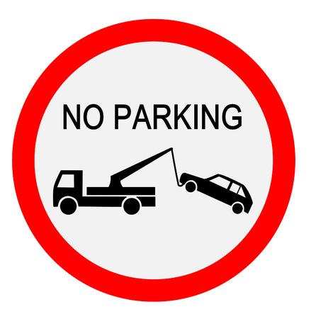 Verkeersbord - geen parkeerplaats Vector Illustratie