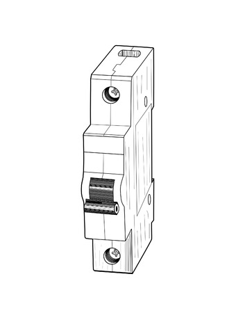 installer: Circuit breaker Illustration