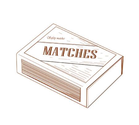 caja de cerillas: Matchbox Vectores