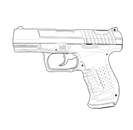 tattoo drawings: Pistol