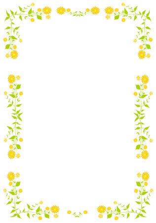 herbolaria: Capítulo con las flores de plantas y naranja.